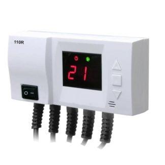 Cirkuliacinio siurblio termostatas su dviejų siurblių valdymu 110R