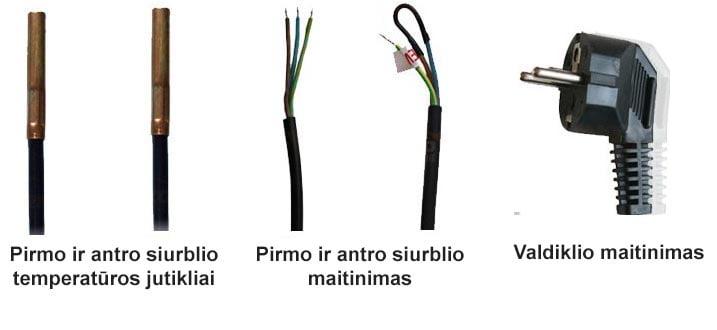 Cirkuliacinio siurblio termostatas su dviejų siurblių valdymu 110R laidai