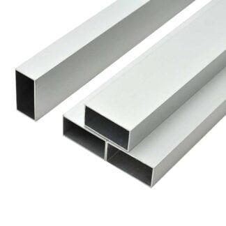 Aliuminio stačiakampis vamzdis 80x40x1,3