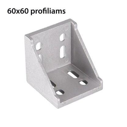 Brackets aliuminio profiliams 6060 profiliams