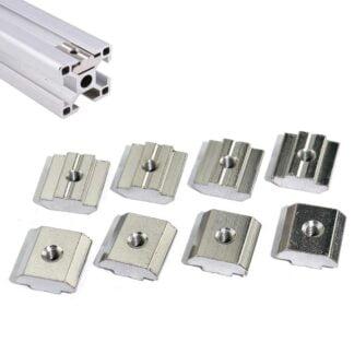 Slide T-nuts aliuminio profiliams