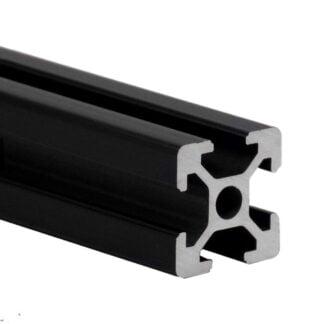 Aliuminio profilis 20×20 T-slot Black – juodas