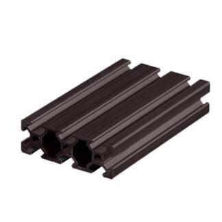 Aliuminio profilis 20x60 T-slot Black - juodas