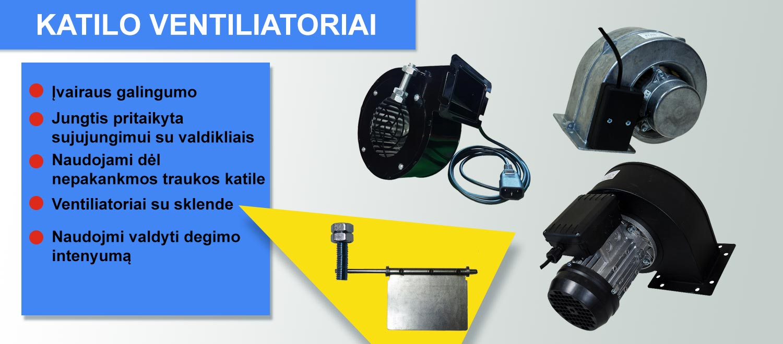 katilo ventiliatoriai