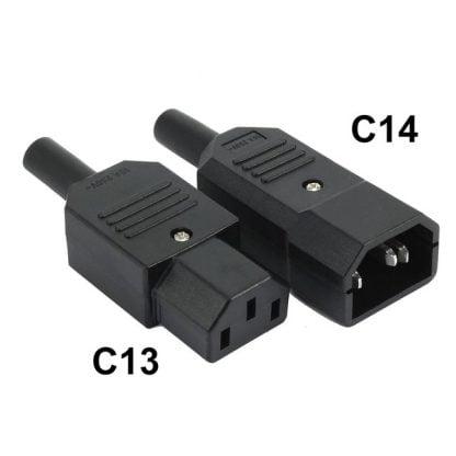 C14 ir C13 jungtys