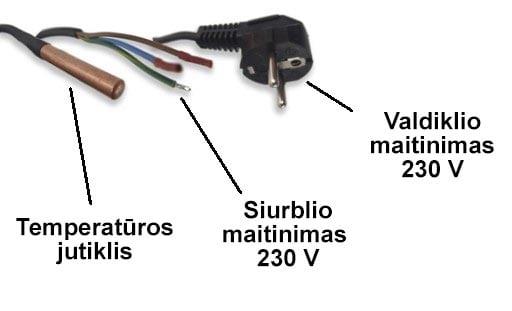 IE-21 kabeliai ir jutikliai