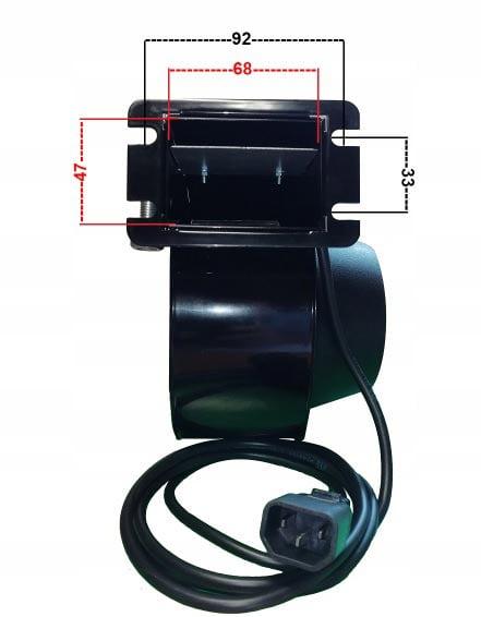 Katilo pakuros ventiliatorius, orapūtė RV12R išmatavimai