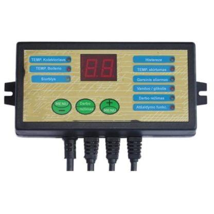 Saulės kolektoriaus valdiklis ir termostatas