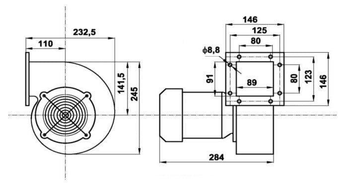 ventiliatorius RV-21 schema